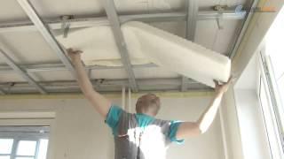 Звукоизоляция потолка. Монтаж звукоизолирующего подвесного потолка(Сегодня мы решаем проблему звукоизоляции потолка в квартире. В видео-ролике приводится подробная пошагова..., 2013-07-29T09:21:02.000Z)