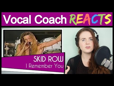 Vocal Coach Reacts To Skid Row - I Remember You (Sebastian Bach Live At Wembley Stadium 1991)