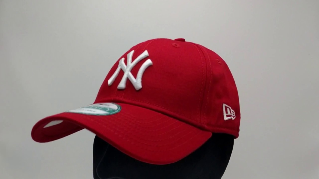 9Forty NY Adjustable Cap in Red - Red New Era bzzq0TmTgU