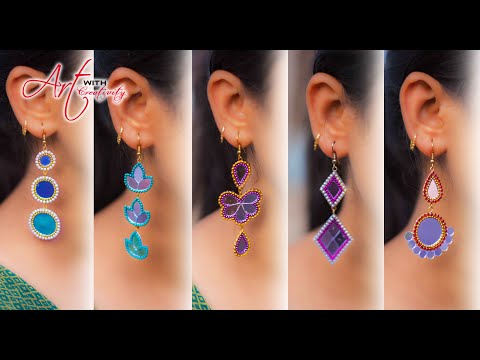 5 easy Stud Earring Design | DIY | 5 min Craft | Hand made jewelry | Art with Creativity