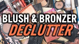 BLUSH & BRONZER DECLUTTER | HOW TO DECLUTTER EFFECTIVELY