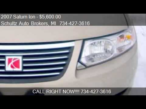 2007 Saturn Ion 2 4dr Sedan for sale in Livonia, MI 48150 at