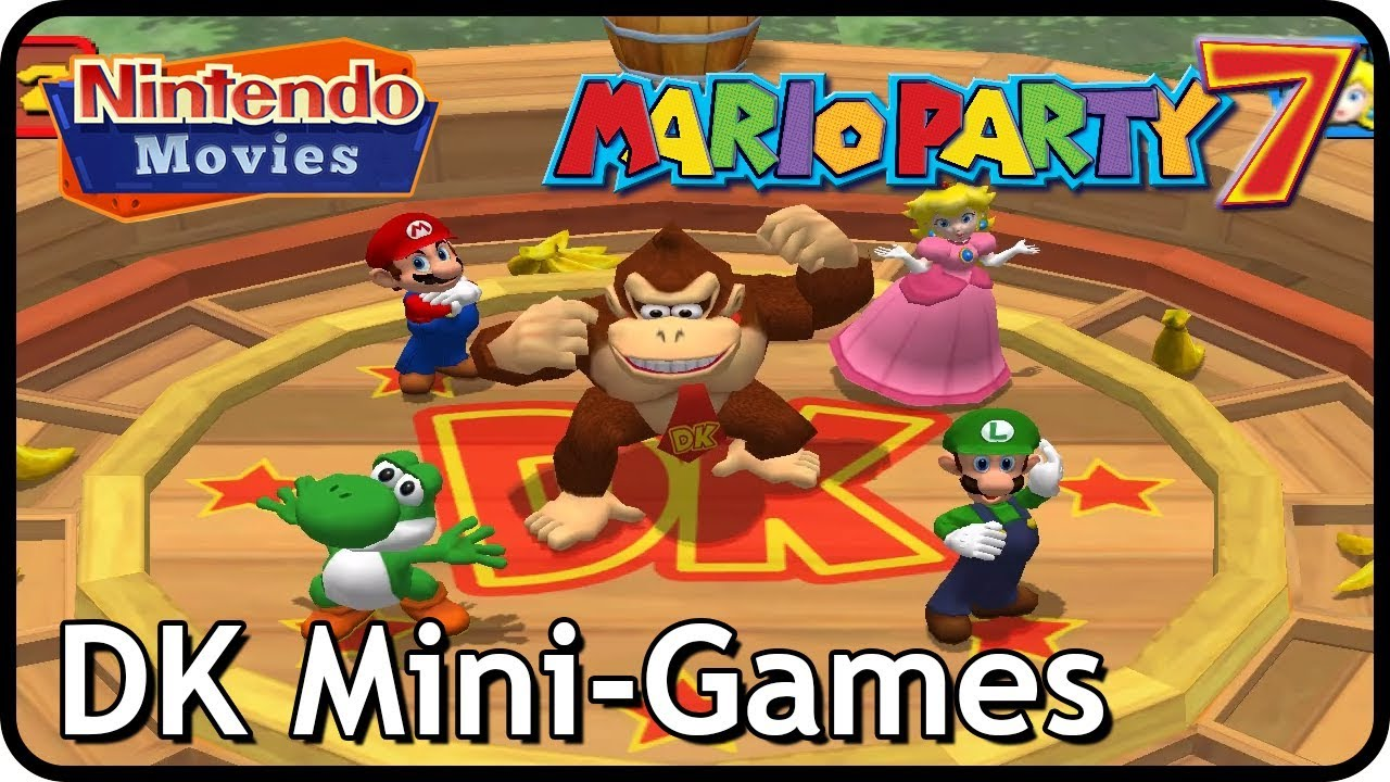 Mario Party 7 All Donkey Kong Mini Games Multiplayer Youtube