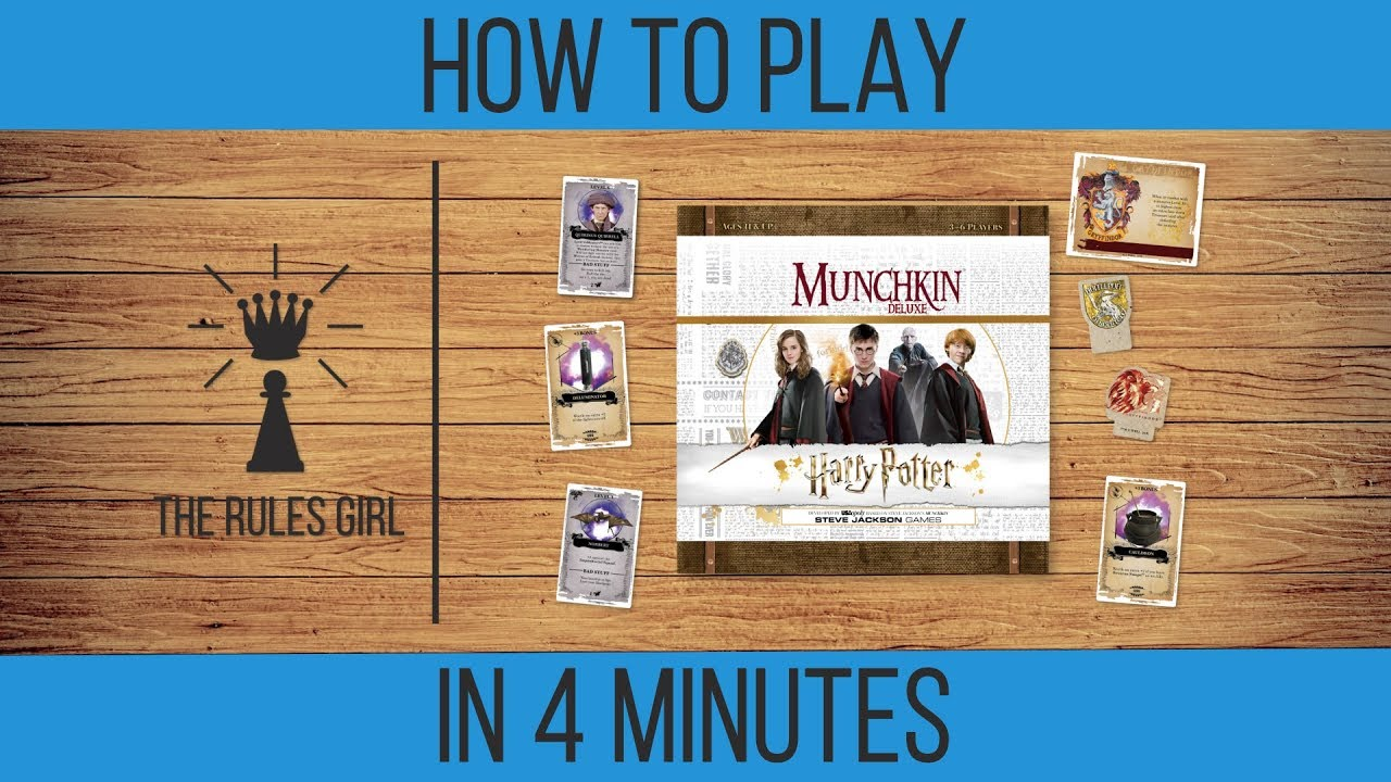 How To Play Munchkin Harry Potter Deluxe In 4 Minutes The Rules