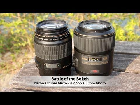 Battle Of The Bokeh: Nikon 105mm Micro Vs Canon 100mm Macro