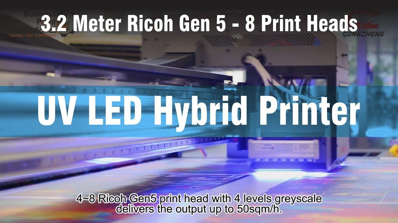 UV LED Hybrid Printer 3 2 meter Gen 5 Print heads - BPI