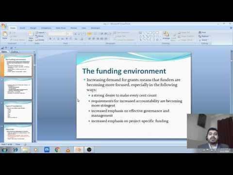 Session 1v1   Funding environment
