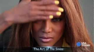 Tyra Banks Shows me how to Smize | USA TODAY Talking Your Tech