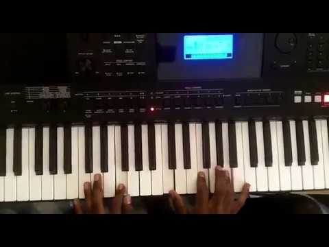 Piano tutorial on With All My Heart by Sinach in Key F (1 7 6 4 3 2 5 1 progression)