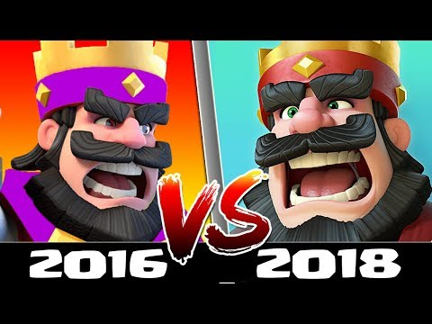 Playing Clash Royale in 2016 Vs 2018 - Old Versus New - What has Changed? Clash Royale Beta