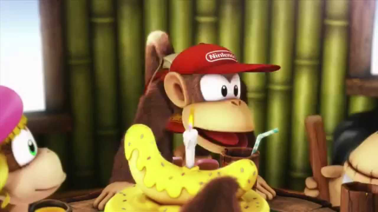 Donkey Kong Country Tropical Freeze Banana Cake 720p