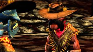 The Gunstringer Lonely Are The Dead 720P gameplay Xbox 360 Kinect