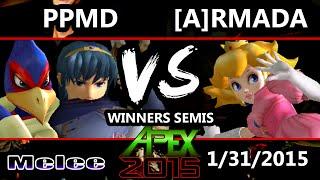 Apex 2015 - Armada (Peach) Vs. PPMD (Falco, Marth) - Winners Semis - SSBM