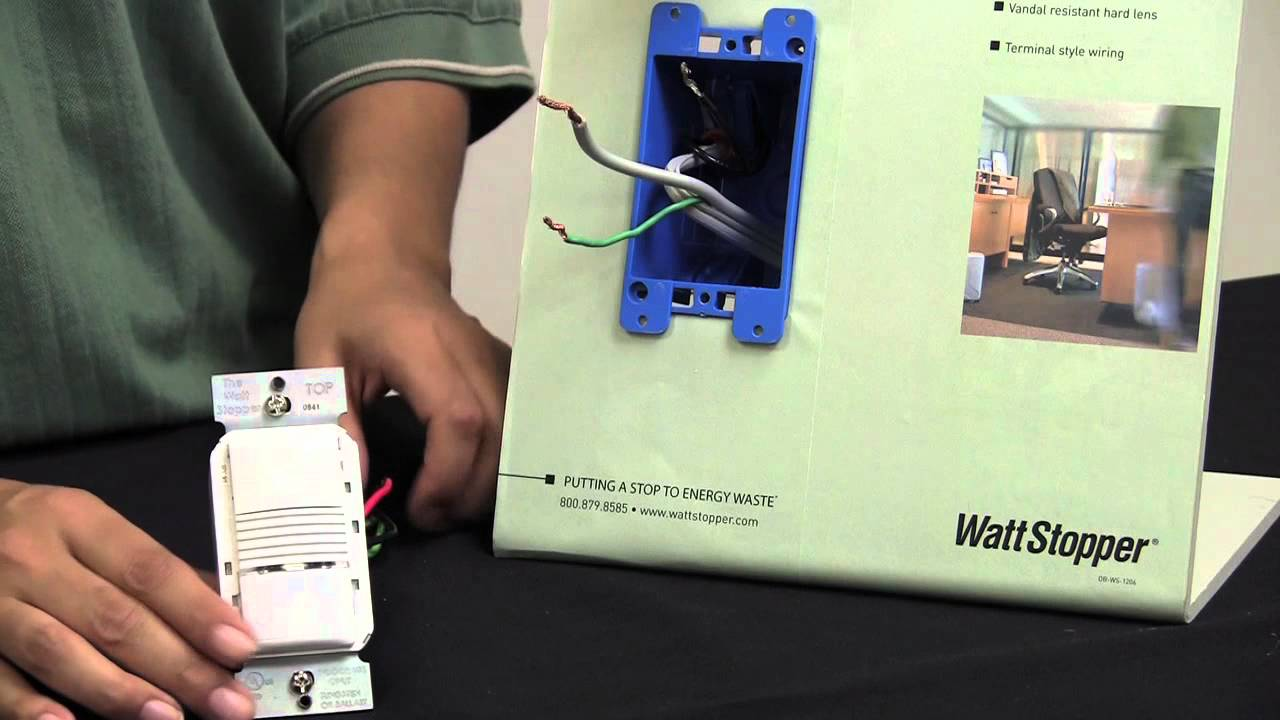 wattstopper: how to: installing a pw-100 passive infrared wall switch  sensor - youtube