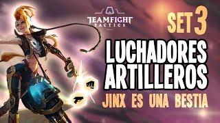 TEAMFIGHT TACTICS   Luchadores y artilleros   Jinx 3 UNA BESTIA