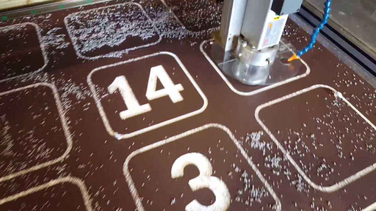 Cnc Router King Color Core Hdpe Sign Making Youtube