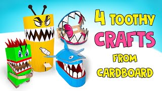 Crafts With Sharp Teeth | Traps VS Trash Cans!