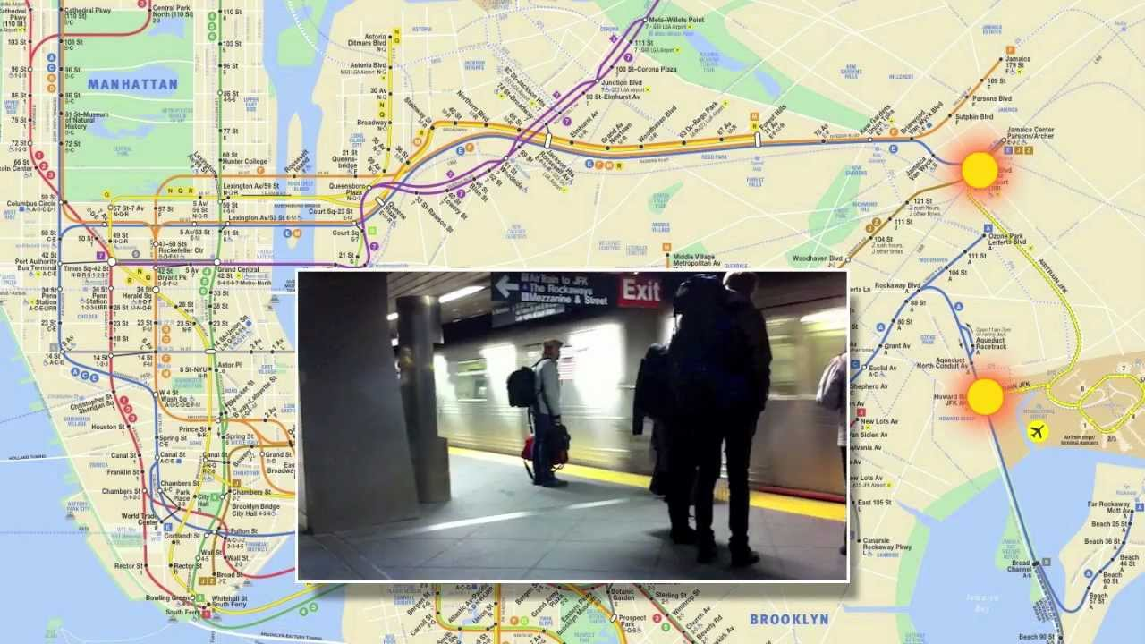 Jfk Subway Map.How To Get To Jfk Airport And Back Using The Subway Airtrain
