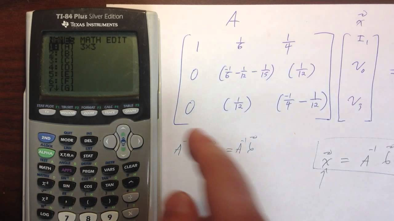 Putting Matrices Into Ti84 Plus