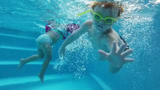 Zane swimming summer 2018