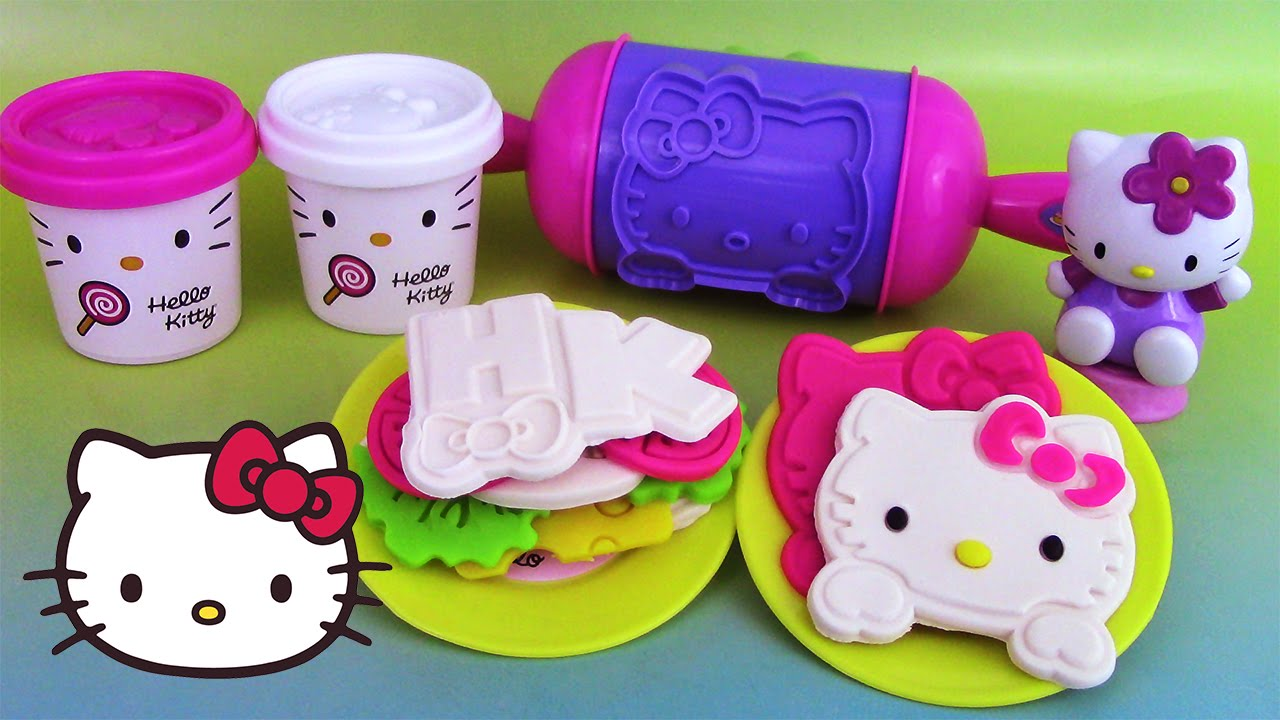 p te modeler hello kitty sandwich party play doh. Black Bedroom Furniture Sets. Home Design Ideas
