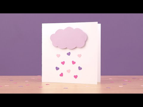 Love rain cloud card tutorial | DIY - Love & Valentine's Day greeting card