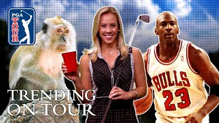 MJ's cigar habit, OJ golfing, monkeys & trick shots