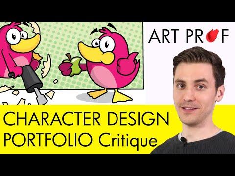 Art Critique: Character Design Portfolio / ART PROF