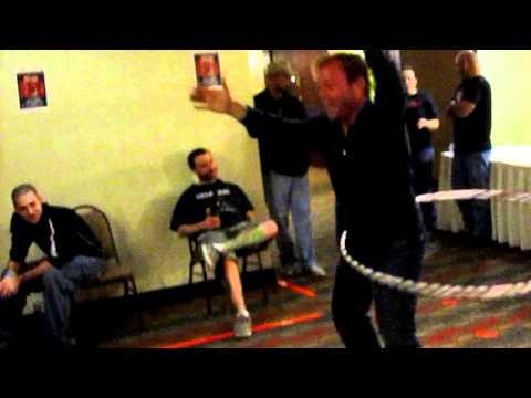 Jonathan Breck aka The Creeper hula hoops with Cassie @ HHW Cinci 2010