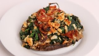 Bacon & Spinach Stuffed Portobello Mushrooms Recipe - Laura Vitale - Laura In The Kitchen Ep 401