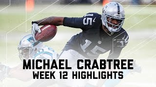Michael Crabtree's 110-Yard Day | Panthers vs. Raiders | NFL Week 12 Player Highlights