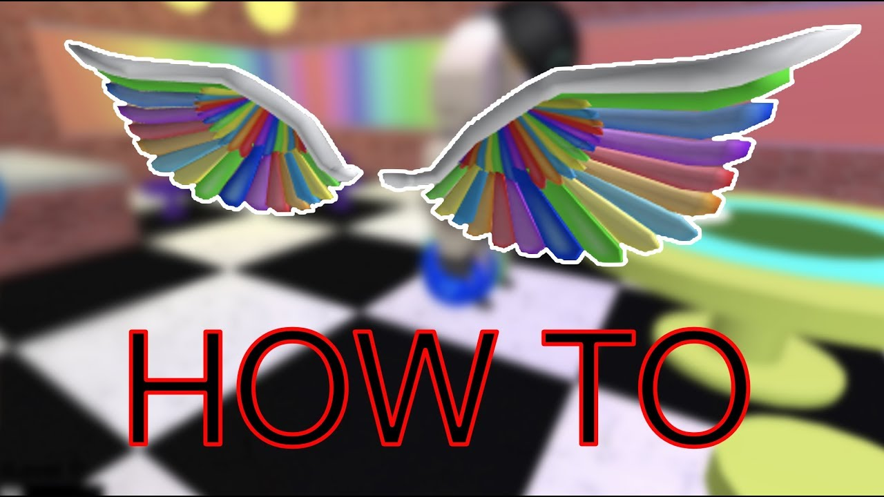 Roblox Rainbow Wings How To Get The Rainbow Wings Roblox Imagination Event 2018 Youtube