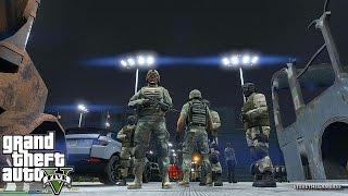 GTA 5 MODS - MILITARY PATROL - ZOMBIE APOCALYPSE (GTA 5 PC POLICE MODS)