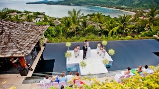 Свадьба в Тайланде на вилле с шикарным видом на море  (Вилла и Файршоу)