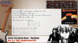 🎸 Since You Been Gone - Rainbow Guitar Backing Track with chords and lyrics