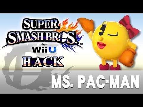 SSBWii U Hack Ms Pac Man YouTube