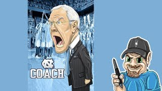 How to Draw UNC Head Coach Roy Williams