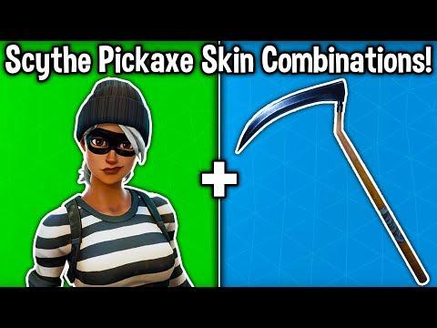 5 BEST 'SCYTHE PICKAXE' SKIN COMBINATIONS! (Reaper Harvesting Tool)