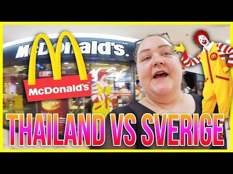MCDONALDS I THAILAND VS SVERIGE (DETTA FINNS INTE I SVERIGE)