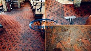 DEEP cleaning GOOEY restaurant carpet || ** 3 months of grease buildup **