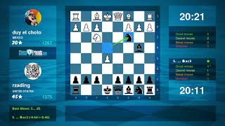 Chess Game Analysis: duy el cholo - rzading : 0-1 (By ChessFriends.com)