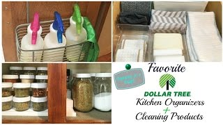 DOLLAR TREE KITCHEN ORGANIZERS + CLEANING PRODUCTS|KITCHEN ORGANIZING ON A BUDGET