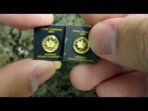 Tiny Gold - 2014 Canada Maple Leaf Gold Gram Bullion Coin