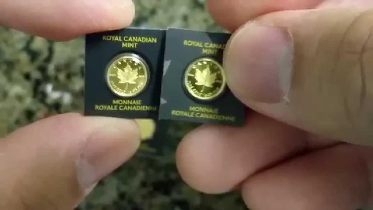 Tiny Gold - 2014 Canada Maple Leaf Gold Gram Bullion Coin