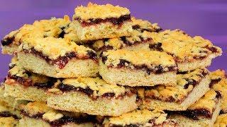 Простой рецепт рассыпчатого десерта. Обалденный тертый пирог с вареньем! | Appetitno.TV