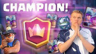 CHAMPION! 5,800+ 3 Musketeers Cycle Deck LIVE Ladder Gameplay - Clash Royale