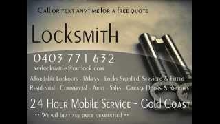 Gold Coast Locksmiths - 24 Hour Emergency Locksmith Gold Coast (cheapest lockouts)