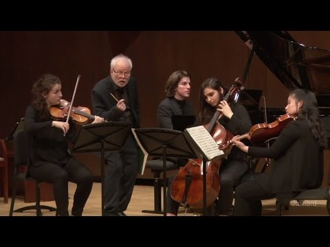 Schumann Piano Quartet in E-Flat Major, Op. 47 | Juilliard Joel Smirnoff Chamber Music Master Class