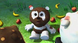 Мультики для детей - Кротик и Панда - Три медведя + Автомобильная покрышка