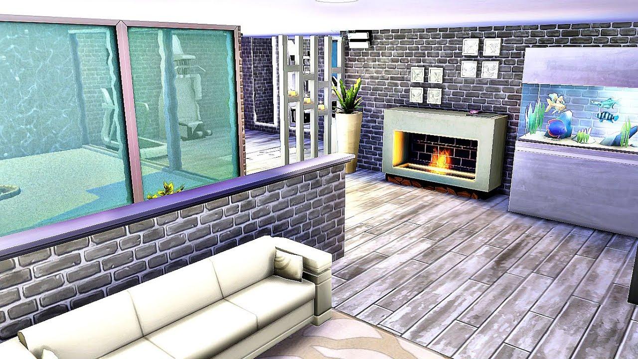 Подвал с окнами в бассейн Sims 4 Без кодов и модов Sims 4 ...